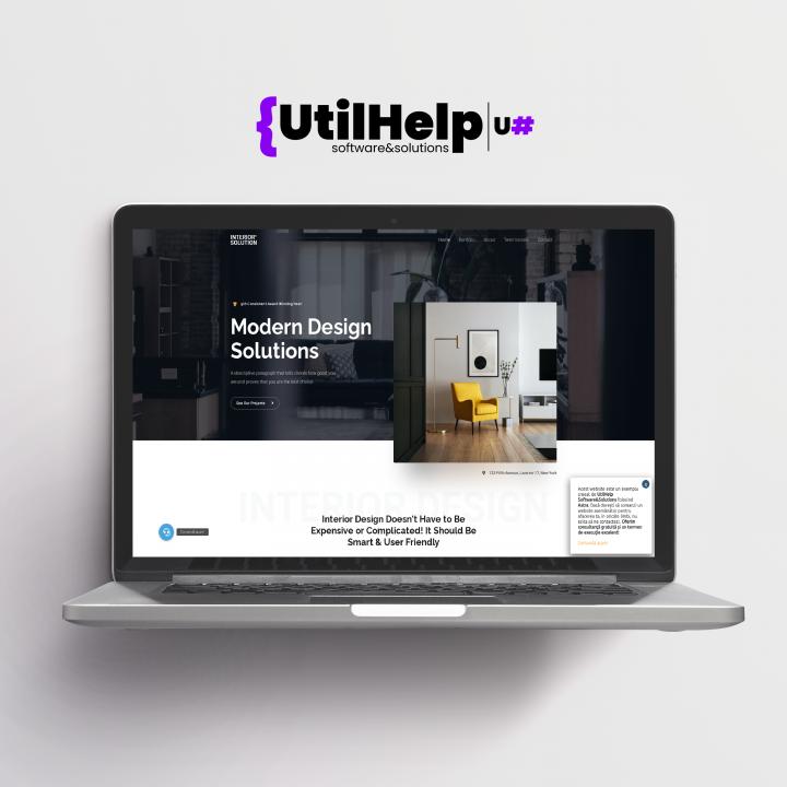 website de prezentare pentru designeri, site designeri, site de prezentare designeri, site designer, website designer