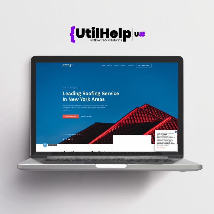 Website de prezentare pentru acoperișuri, website acoperisuri, site de prezentare acoperisuri
