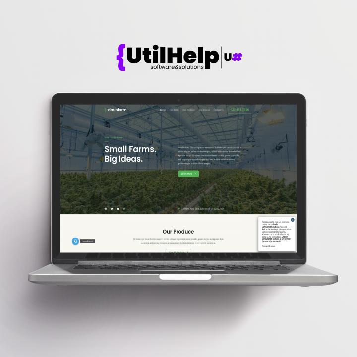 Website de prezentare pentru ferma, site ferma, site pentru ferma, site fermieri, website ferma, design website pentru ferma