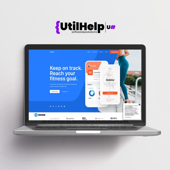 Website de prezentare pentru aplicatie mobil, Website pentru aplicatie mobil, Website aplicatie mobil, design site aplicatie