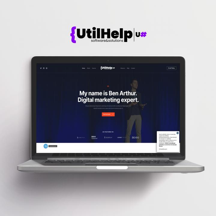 Website de prezentare pentru trainer/speaker. site pentru trainer, site pentru speakeri. design site speakeri, site prezentare traineri.