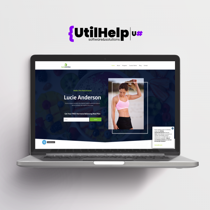 website de prezentare pentru nutritionisti, site de prezentare pentru nutritionisti, website nutritionist, site nutritionist, site nutritie, design website nutritionisti
